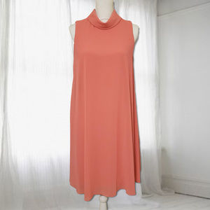 Vince Camuto Mock-Neck Flyaway Trapeze Dress